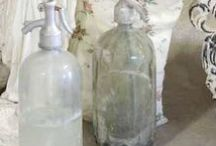 Mason Jars...Seltzer Bottles...Vintage Bottles...Milk Glass And More... / by Melissa Miller { MissTique }