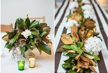 centerpieces.  / if you are going to sit there it should be pretty