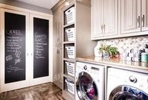 Laundry Room / A board with ideas for managing laundry and creating a beautiful, yet practical, laundry room.