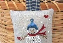 Cross stitch Santa and Snowmen / Great Santas and Snowmen I like. / by Rj