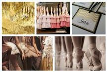 pink & gold | dance & ballet | Bat Mitzvah / pink and gold details; dancer details; Bat Mitzvah decor, favor and other ideas