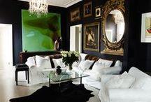 Decorating-Black, White, Green, Gold / by Cheryl Jones