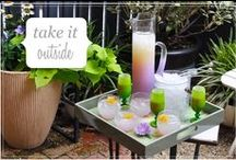 All Things Spring! / Spring bring color and light, outdoor entertaining and fresh cocktails. Cheers to Spring!