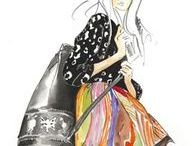 Fashion Illustration / Sketches that capture a mood, trend or silhouette. Clothing centric illustrations.