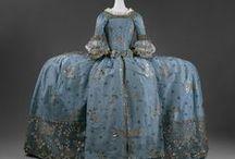 18th c., robe de cour: mantua