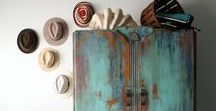 Vintage Blue Patina Decor / Tarnished copper or tarnished bronze = the most gorgeous vintage blues and vintage turquoise colors!