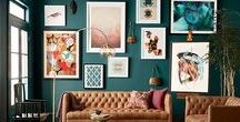 Bold Color Walls / Don't be afraid! Go bold with your walls. Use this as inspiration for red walls, orange walls, yellow walls, green walls, blue walls... you name it!