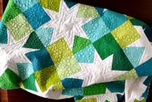 We're snuggled up together, like two birds of a feather are we... / Quilt love!