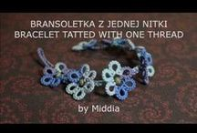 Moje schematy - My patterns / Frywolitka, ręczne tkanie. - Tatting. Rigid heddle weaving.
