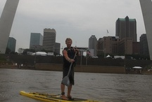 Women on Stand Up Paddleboards / Fitness, health, and fun -- that's what Stand Up Paddleboarding is all about. If you want to learn how to use a Stand Up Paddleboard, experiment with paddle boarding, or just watch someone else vicariously paddle board, this is a great place to start.  **Thank you Canoe Kentucky, www.canoekentucky.com for the equipment and instruction so I could learn how to participate in this amazing water activity.