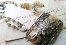 Bridal Jewelry by Sacred Cake / my secret passion...creating shabby chic bridal combs, earrings, necklaces and cuffs. #sacredcake #bridaljewelry #weddingjewelry #shabbychicwedding