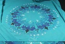 Moje ręcznie malowane i fabowane - My hand painted and dyed / niteczki, tkaniny ... - threads and others