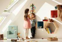 Barnerom / Morsomme og kreative idèer til barnerommet. Bruk takvinduer for et lyst, sunt og stimulerende rom for barna hvor de både kan leke og sove.