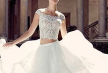 The Look:  Two-Piece Wedding Dresses