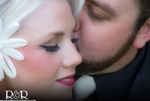 Red and Black Vintage Wedding / http://www.randrphotography.com