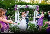 Purple & White Summer Wedding / http://www.randrphotography.com