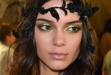 Trending Now: Metallics / Metallic shadows and makeup accents.