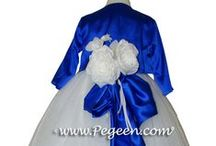 Blue flower girl dresses / TRUE BLUE! See more about flower girls, flower girl dresses and little girls flower girl dresses - Pegeen flower girl dresses, custom blue flower girl dresses, couture silk flower girl dresses in blue , sapphire blue, blue indigo, blueberry, baby blue, powder blue, just about any color blue for your flower girl. Pegeen.com is a manufacturer of flower girl dresses & boys suits - Infants to Plus Size. 200+ colors in Silk. Headquartered in Orlando FL .. 1 mile from Disney!! 407.928.2377
