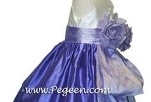 Purple flower girl dresses / Purple is a very popular color for weddings!  Just about any color of purple for your flower girl flower girl dresses you can think of - 1000 Nights, Royal Purple, amethyst, berry, hydrangea, grape, lilac, lavender, light orchid, plum, violet, wisteria, Victorian, iris, thistle. Pegeen.com is a manufacturer of flower girl dresses & boys suits - Infants to Plus Size. 200+ colors in Silk. Headquartered in Orlando FL .. 1 mile from Disney!! 407.928.2377