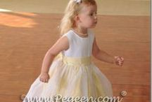 Yellow Weddings & Flower Girl Dresses / A Big Ray of Sunshine! See more about flower girls, flower girl dresses in shades of yellow and little girls flower girl dresses - Pegeen flower girl dresses, custom yellow flower girl dresses, couture silk flower girl dresses in yellow , yellow wedding themes, yellow cakes, - just about anything yellow you can think of for a bride!  Pegeen.com is a manufacturer of flower girl dresses & boys suits -  Headquartered in Orlando FL .. 1 mile from Disney!! 407.928.2377