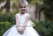 White Weddings & Flower Girl Dresses / The pure simplicity of white.  Flowergirl dresses and little girls flower girl dresses - custom white flower girl dresses, couture silk flower girl dresses in white, fluffy white tulle flower girl dresses, white wedding themes, white flowers, white cakes - just about anything pink you can think of for a bride!Pegeen.com is a manufacturer of flower girl dresses & boys suits - Infants to Plus Size. 200+ colors in Silk. Headquartered in Orlando FL .. 1 mile from Disney!! 407.928.2377
