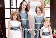 Gray Flower Girl Dresses & Weddings / See the classic look of a gray-themed wedding, gorgeous Pegeen flower girl dresses in morning gray, silver gray and many shades in between. Get ideas for your wedding , such as gray decor, food, favors, cakes and much more. Pegeen.com is a manufacturer of flower girl dresses & boys suits - Infants to Plus Size. 200+ colors in Silk. Headquartered in Orlando FL .. 1 mile from Disney!! 407.928.2377