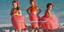 Flower Girl Dress Month Favorite / The crème de la crème!  These flower girl dresses by Pegeen stand out above the rest. See some of the most lovely silk, tulle, and organza flower girl dress color combinations and styles of each and every month. Pegeen.com is a manufacturer of flower girl dresses & boys suits - Infants to Plus Size. 200+ colors in Silk. Headquartered in Orlando FL .. 1 mile from Disney!! 407.928.2377