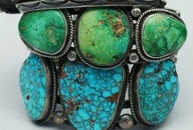 Turquoise - AZ State Symbol  / One of Arizona's State Symbol is the Turquoise Gemstone...used for centuries in Native American jewelry, found throughout the Southwest...  A state Symbol since 1974.