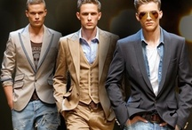 Uomo alla moda / Collection of style trends for men