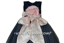 Navy Flower Girl Dresses / Flower girl dresses in navy blue and midnight shade. Pegeen.com is a manufacturer of flower girl dresses & boys suits - Infants to Plus Size. 200+ colors in Silk. Headquartered in Orlando FL .. 1 mile from Disney!! 407.928.2377