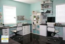 crafty spaces / craft rooms and spaces