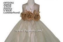 Ivory Flower Girl Dresses / Flower girl dresses in ivory, creme, champagnes and beigh. Pegeen.com is a manufacturer of flower girl dresses & boys suits - Infants to Plus Size. 200+ colors in Silk. Headquartered in Orlando FL .. 1 mile from Disney!! 407.928.2377