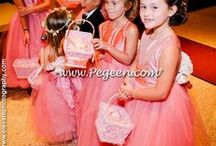 Coral Flower Girl Dresses & Weddings / Flower Girl Dresses in shades of Coral and finds for your color themed wedding. Pegeen.com is a manufacturer of flower girl dresses & boys suits - Infants to Plus Size. 200+ colors in Silk. Headquartered in Orlando FL .. located 1 mile from Disney!! 407.928.2377