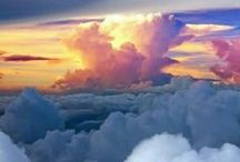 our world: look up. / up in the clouds. / by Rebecca H