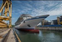 "Viking Star Float Out Ceremony / Viking Star reached a major construction milestone on June 23, 2014 during a traditional ""float out"" ceremony at the Fincantieri shipyard near Venice, Italy. Experience the event through a collection of exclusive photos! / by Viking Cruises"