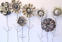 """Flower Tutes / No garden? No problem.  You can make a flower with just about anything. Seriously, anything: sewing patterns, metal cans, fingernail clippings (just kidding)  Go make some flowers and """"tute-tute"""" your own horn. / by Dana Parkes"""