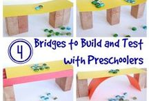 Bridges, Dams and Tunnels Preschool Theme / Bridges activities for preschool, learning bridges for preschool, bridge preschool ideas, bridge preschool crafts, bridges for kids. Building dams, learning about dams. Tunnel building for kids, teaching about tunnels, tubes and tunnels for preschool, gross motor tunnels for preschool, learning about tunnels.