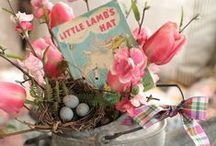 In Your Easter Bonnet / #Easter, #Easterdecorations, #Bunnies, #Colors, #Easter Colors