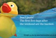 Days of the week / #Daysoftheweek quotations to share - why be serious when you could smile every day? Perfect for sharing on Twitter #Monday #Tuesday#Wednesday #Thursday #Friday #Saturday #Sunday #rubberducky