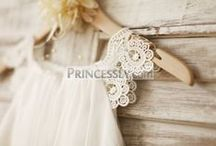 Lace Flower Girl Dresses / Lace flower girl dresses and little girl dresses for wedding featuring beautiful laces!
