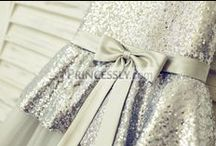 Sequins Flower Girl Dresses / Flower girl dresses and little girl dresses for wedding that come with shining sequins!