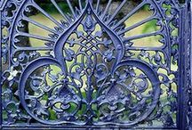 Ornamental Wrought Iron / Ornate and ornamental wrought iron of all kinds from gates to signs to furniture to balconies and more. / by Lady Rosabell