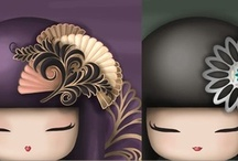 I love kokeshi dolls / by Rubee-Lynn Quiwa