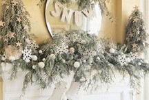 Seasonal Mantels / Fireplace mantels decorated for winter, spring, summer and fall / autumn.