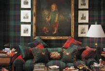 Mad For Plaid / Plaids used in decor, interior design, furniture, accessories and more.