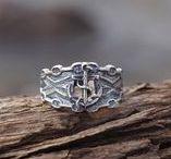 Nautical rings / Nautical silver ring handmade by werfstore