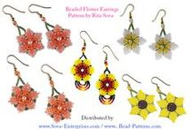 Beaded Earring Patterns (Tutorials) / http://www.bead-patterns.com/shop/shop.php?next=50&keywords=earring&method=all / by Bead-Patterns (Sova-Enterprises.com)