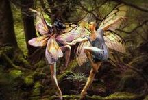 "Fairy Art I Love / ""Take the fair face of woman, and gently suspending, with butterflies, flowers, and jewels attending, thus your fairy is made of most beautiful things""  Charles Ede.  Artist's names included wherever possible because I believe in giving them credit for their beautiful work!