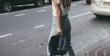 Streetstyle: Simple / Wearable, livable style. Denim, knits, tee shirts and comfortable shoes. Streetstyle and inspiration.