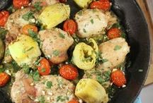 CHICKEN / Healthy chicken dinners. Recipes focus on dishes that incorporate greens and veggies in the dish!